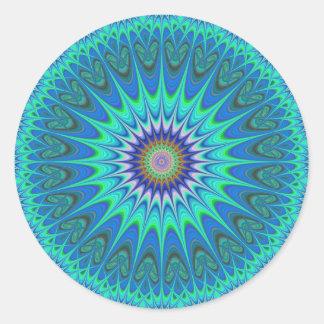 Mandala fresca pegatina redonda