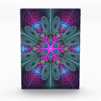 Mandala From Center Colorful Fractal Art With Pink Award