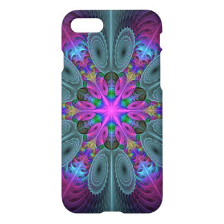Mandala From Center Colorful Fractal Art With Pink iPhone 8/7 Case