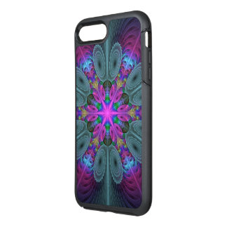 Mandala From Center Colorful Fractal Art With Pink OtterBox Symmetry iPhone 7 Plus Case