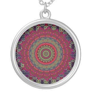 Mandala fucsia del caleidoscopio colgante redondo