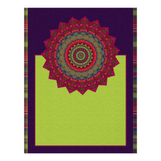 "Mandala fucsia del caleidoscopio folleto 8.5"" x 11"""