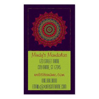 Mandala fucsia del caleidoscopio tarjetas de visita