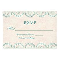 Mandala Garden Chic Wedding RSVP Cards