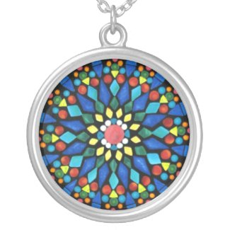 Mandala Gemstone Mosaic Necklace necklace