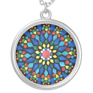 Mandala Gemstone Mosaic Necklace necklace