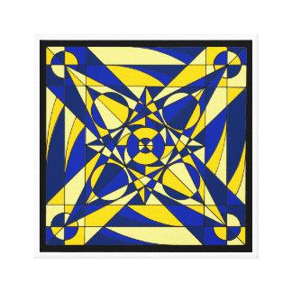 Mandala geométrica impresion en lona