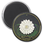 Mandala Golden Flower Fridge Magnet