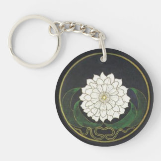 Mandala Golden Flower Keychain