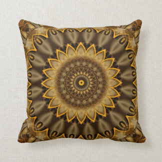 Mandala Goldflower created by Tutti Throw Pillow