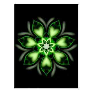 Mandala green hearts created by Tutti Postcard