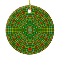 Mandala Green Red Yellow and White Ceramic Ornament