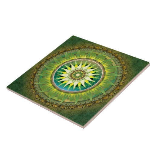 Mandala Green Tile