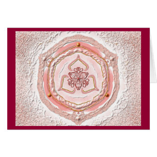 Mandala Grußkarte 02 IN light coral Card