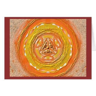 Mandala Grußkarte 03 IN orange Card