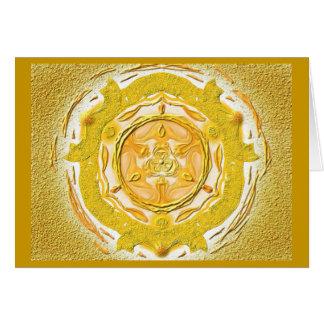 Mandala Grußkarte 04 IN the gold Card