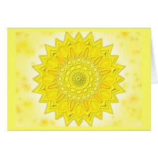 Mandala Grußkarte 05 IN the yellow Card
