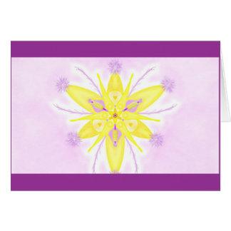 Mandala Grußkarte 05 TM yellow Card