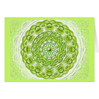 Mandala Grußkarte 06 IN the olive green one Card