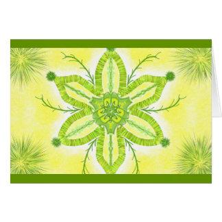Mandala Grußkarte 06 TM olive green ones Card