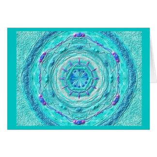 Mandala Grußkarte 08 IN turquoise Card