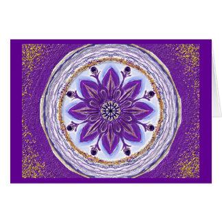 Mandala Grußkarte 10 IN king blue Card