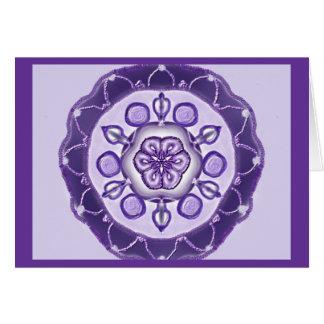 Mandala Grußkarte 10 TM king-blue Card