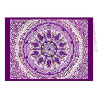 Mandala Grußkarte 11 IN the violet Card