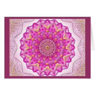Mandala Grußkarte 12 IN the Magenta Card