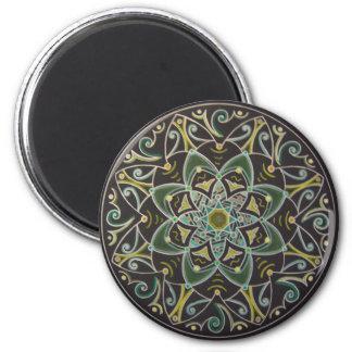 Mandala Healing energyflow Imán Redondo 5 Cm