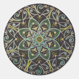 Mandala Healing energyflow Pegatina Redonda