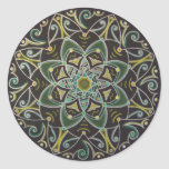 Mandala Healing energyflow Runder Sticker