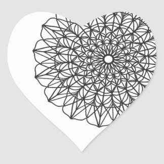 Mandala Heart Heart Sticker