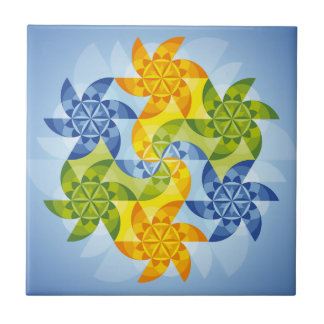 Mandala Heaven's gate Ceramic Tile