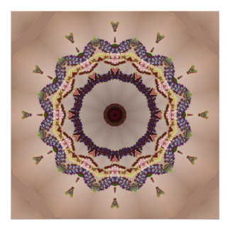 Mandala hecha punto multicolora póster