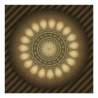 Mandala hermosa del caleidoscopio de la mala invitación 13,3 cm x 13,3cm