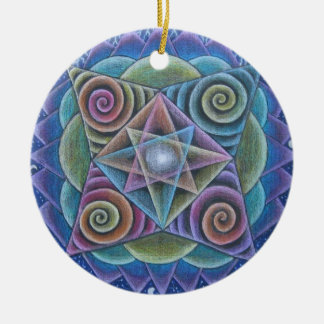 Mandala Holiday Ornament