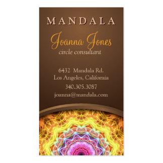 Mandala holística de la pasión ardiente tarjetas de visita