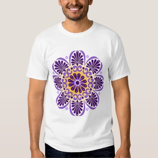 Mandala Houndstooth Fitted T-shirt