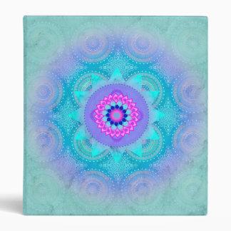 "Mandala ID129 de la turquesa de la floración de Carpeta 1"""