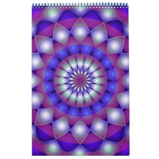Mandala impresa personalizado 2014 del calendario