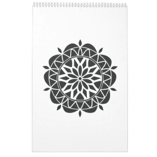 mandala in black calendar