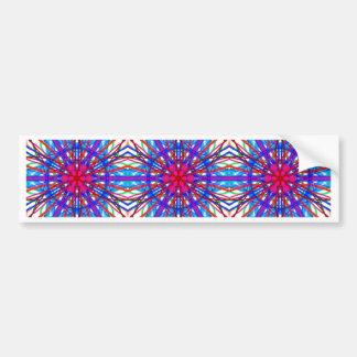 Mandala In Blue And Fuchsia - Tiled Bumper Sticker