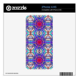 Mandala In Blue And Fuchsia - Tiled Decal For iPhone 4