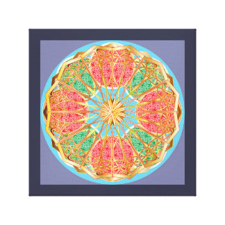 Mandala In Brass And Gold Canvas Print