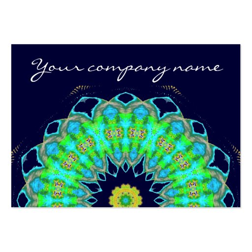 mandala in colors business card template