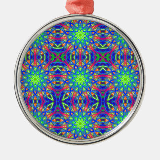 Mandala In Green And Blue Metal Ornament