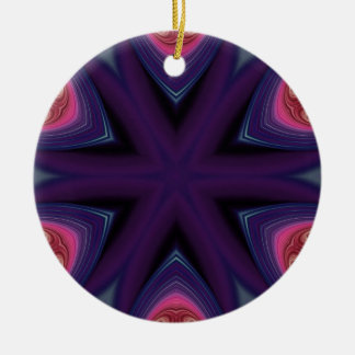 Mandala in Purple and Pink Ceramic Ornament