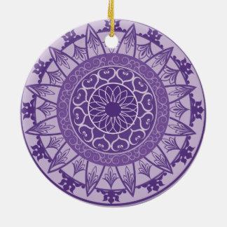 Mandala in Purple Ceramic Ornament