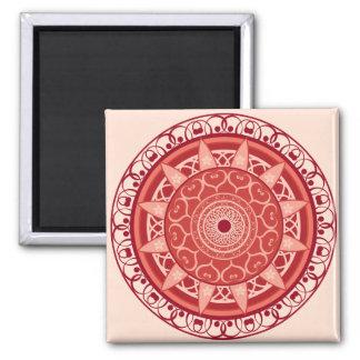 Mandala in Red Magnet